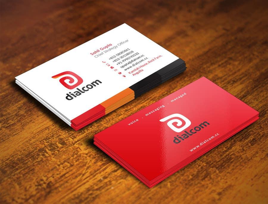 Konkurrenceindlæg #                                        125                                      for                                         Design some Business Cards for Dialcom Inc.