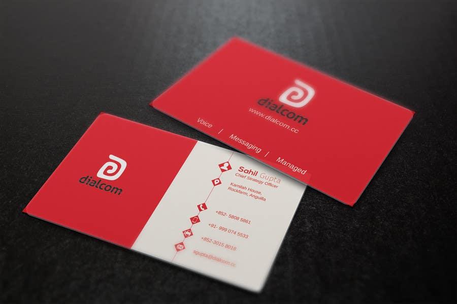 Konkurrenceindlæg #                                        139                                      for                                         Design some Business Cards for Dialcom Inc.