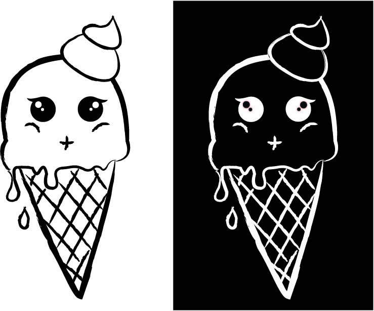 Contest Entry #                                        30                                      for                                         VERY SIMPLE JOB - Design a kawaii ice cream t-shirt print for infant/children's clothing brand