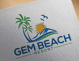 Nro 152 kilpailuun Gem Beach Resort logo käyttäjältä jaktar280