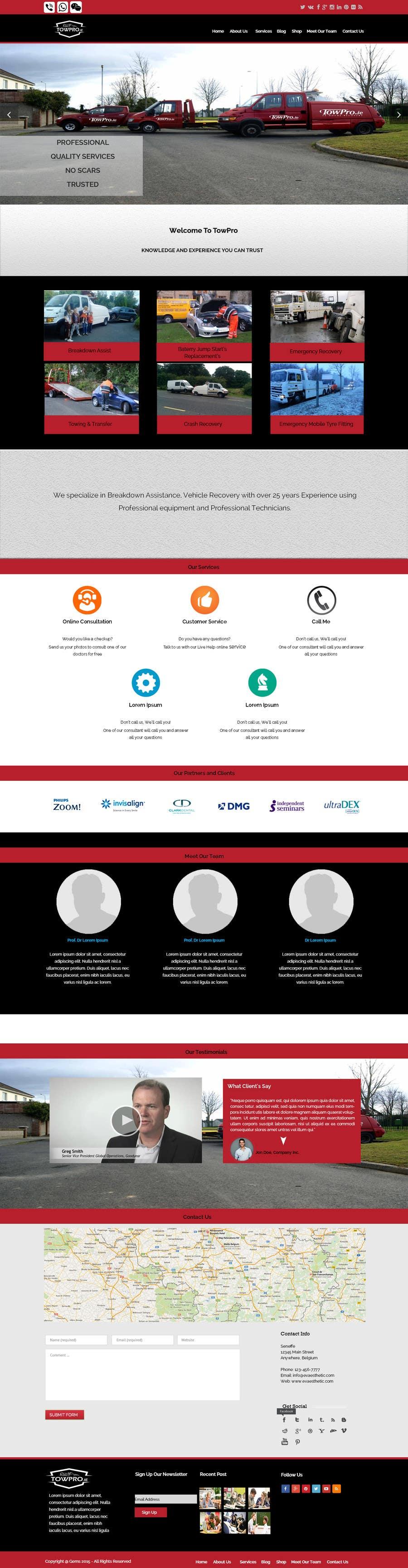 Kilpailutyö #25 kilpailussa Build a Website for TowPro.ie phase 1