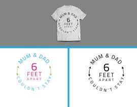 Nro 5 kilpailuun Custom Typography Graphic Design - 6 Feet Apart käyttäjältä kawinder