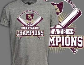 #379 untuk New Albany Ohio Baseball State Champs Tee Shirt Design oleh rashidooo