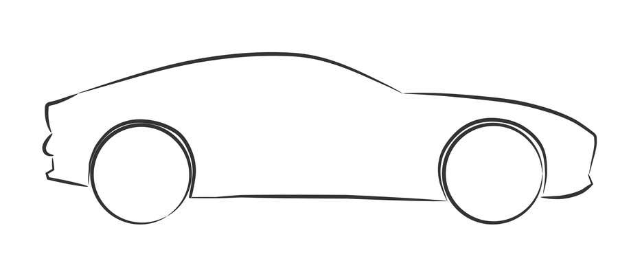 Create An Outline Sketch For A Car As Per Given Example