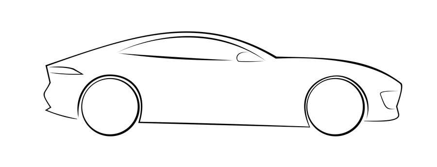 Entry #12 by CJKhatri for Create an Outline sketch for a car as per ...