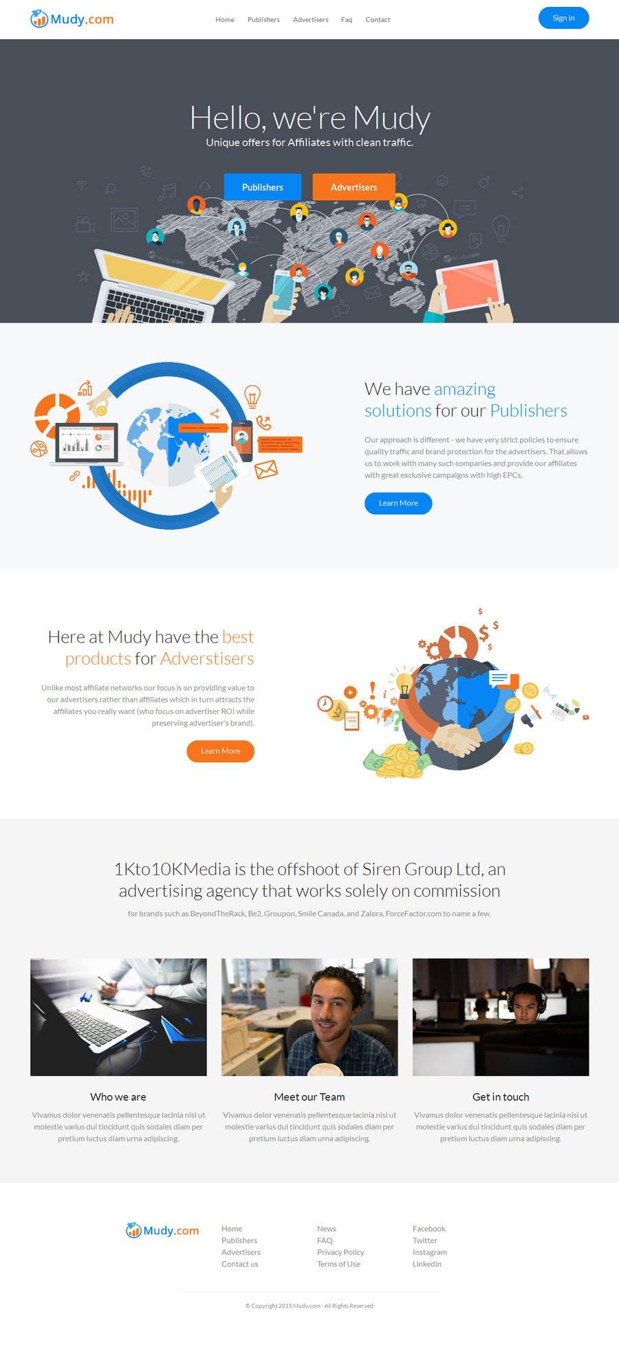 Konkurrenceindlæg #                                        37                                      for                                         Design website for our affiliate network
