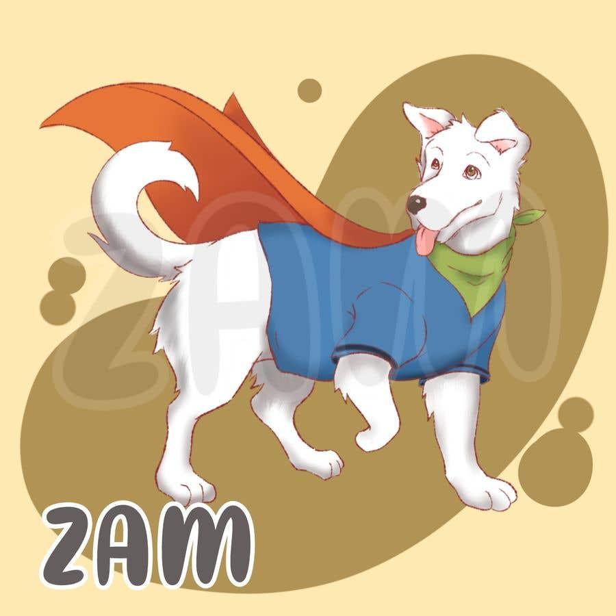 Konkurrenceindlæg #                                        15                                      for                                         Hand Drawing (logo) of ZAM the super dog