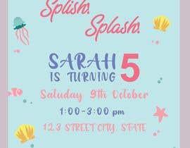 #64 для Create 3 birthday invitations for a birthday party от amnaarshad550