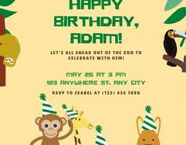 #53 для Create 3 birthday invitations for a birthday party от athirahamidd18