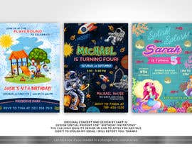 #56 для Create 3 birthday invitations for a birthday party от SAKTI2