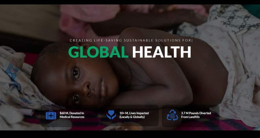 Penyertaan Peraduan #                                        20                                      untuk                                         WordPress photo/home page info layout assistance (for global aid organization)