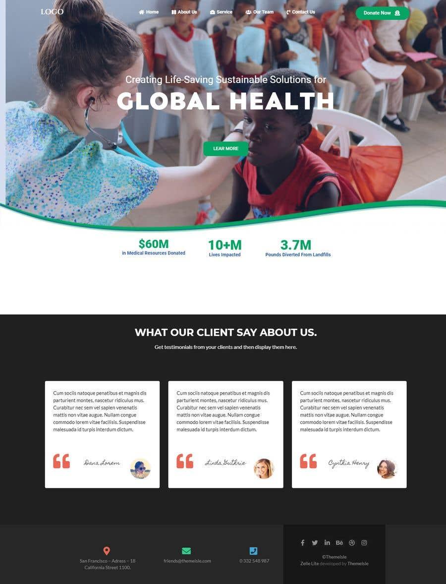 Penyertaan Peraduan #                                        16                                      untuk                                         WordPress photo/home page info layout assistance (for global aid organization)
