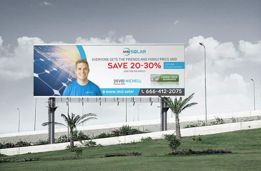 Kilpailutyö #                                        30                                      kilpailussa                                         Billboard Ideas Solar