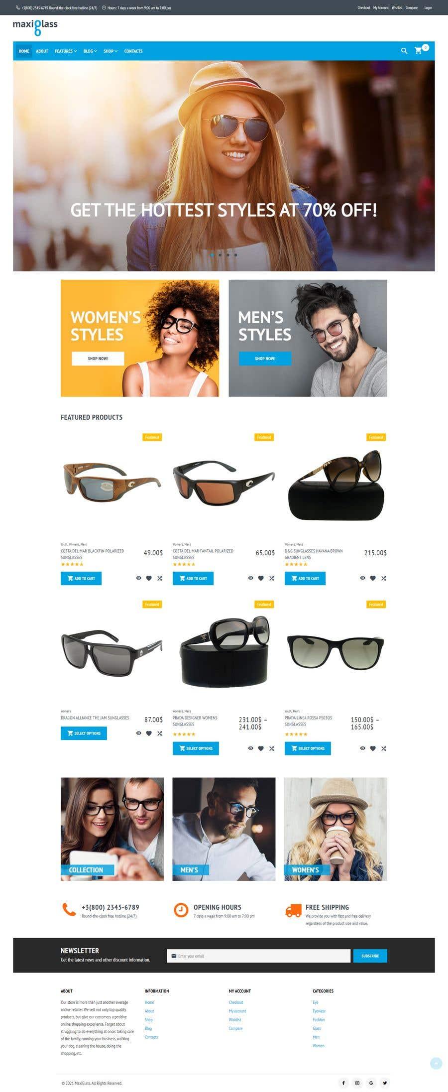 Konkurrenceindlæg #                                        45                                      for                                         Design an online shopping page for my website