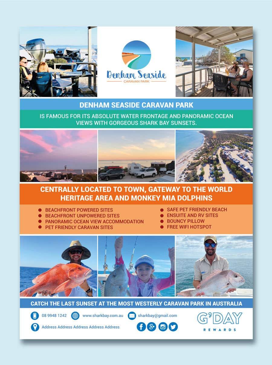 Bài tham dự cuộc thi #                                        53                                      cho                                         Design a Magazine Advertisement for Denham Seaside Caravan Park - 16/06/2021 02:48 EDT