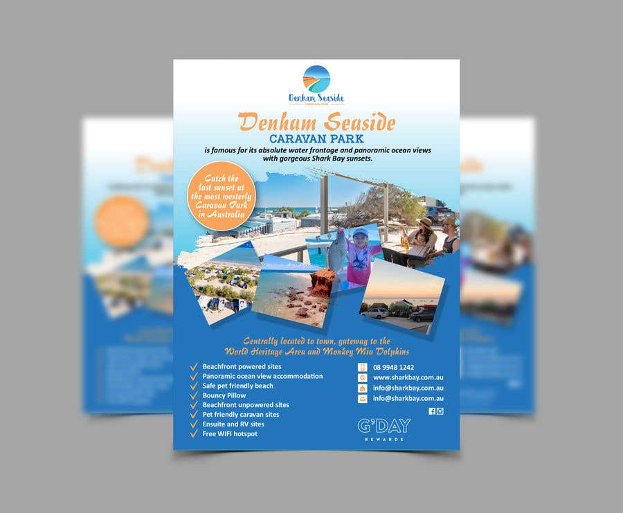 Bài tham dự cuộc thi #                                        29                                      cho                                         Design a Magazine Advertisement for Denham Seaside Caravan Park - 16/06/2021 02:48 EDT
