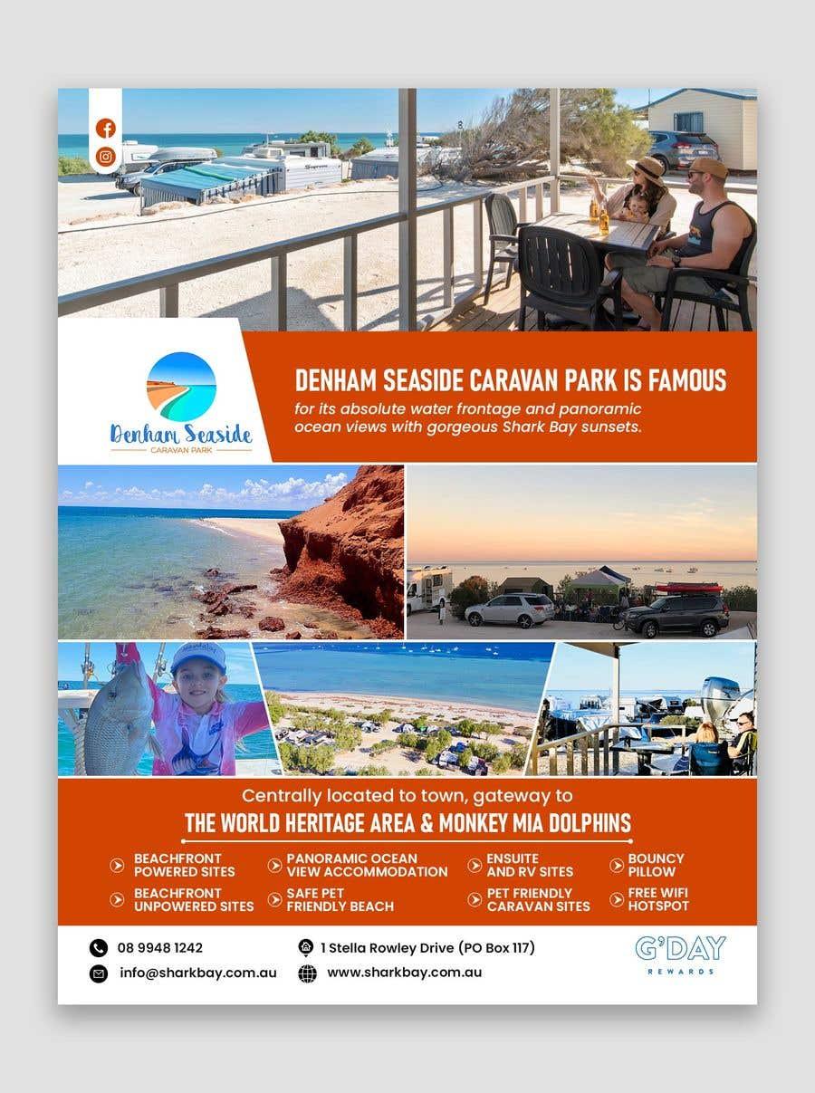 Bài tham dự cuộc thi #                                        41                                      cho                                         Design a Magazine Advertisement for Denham Seaside Caravan Park - 16/06/2021 02:48 EDT