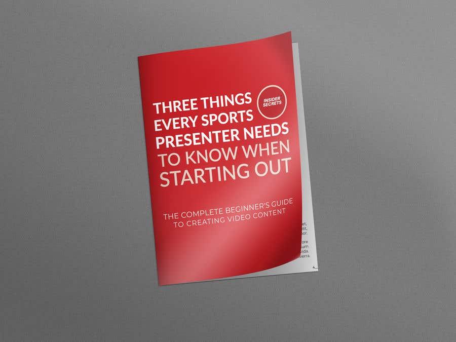 Kilpailutyö #                                        81                                      kilpailussa                                         Design Cover for Slim Book - Free guide for beginner sports presenters