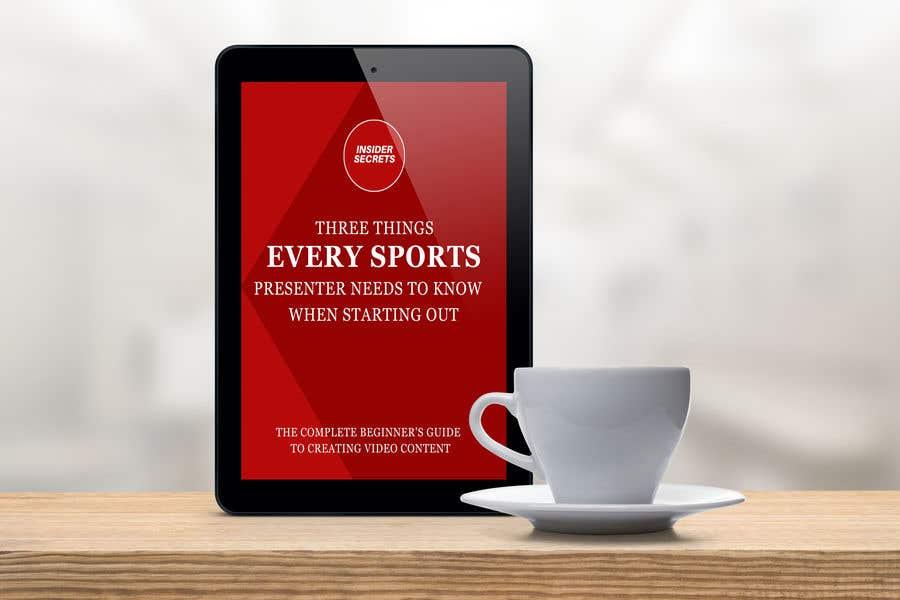 Kilpailutyö #                                        54                                      kilpailussa                                         Design Cover for Slim Book - Free guide for beginner sports presenters
