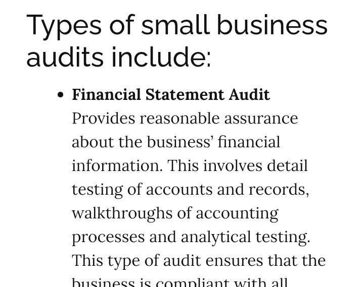 Bài tham dự cuộc thi #                                        5                                      cho                                         Audit my small business