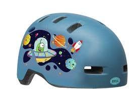 Nro 144 kilpailuun Beautiful cartoon outer space theme illustration designed for Children helmets käyttäjältä awa1979