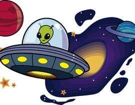 Nro 72 kilpailuun Beautiful cartoon outer space theme illustration designed for Children helmets käyttäjältä diegomedvi