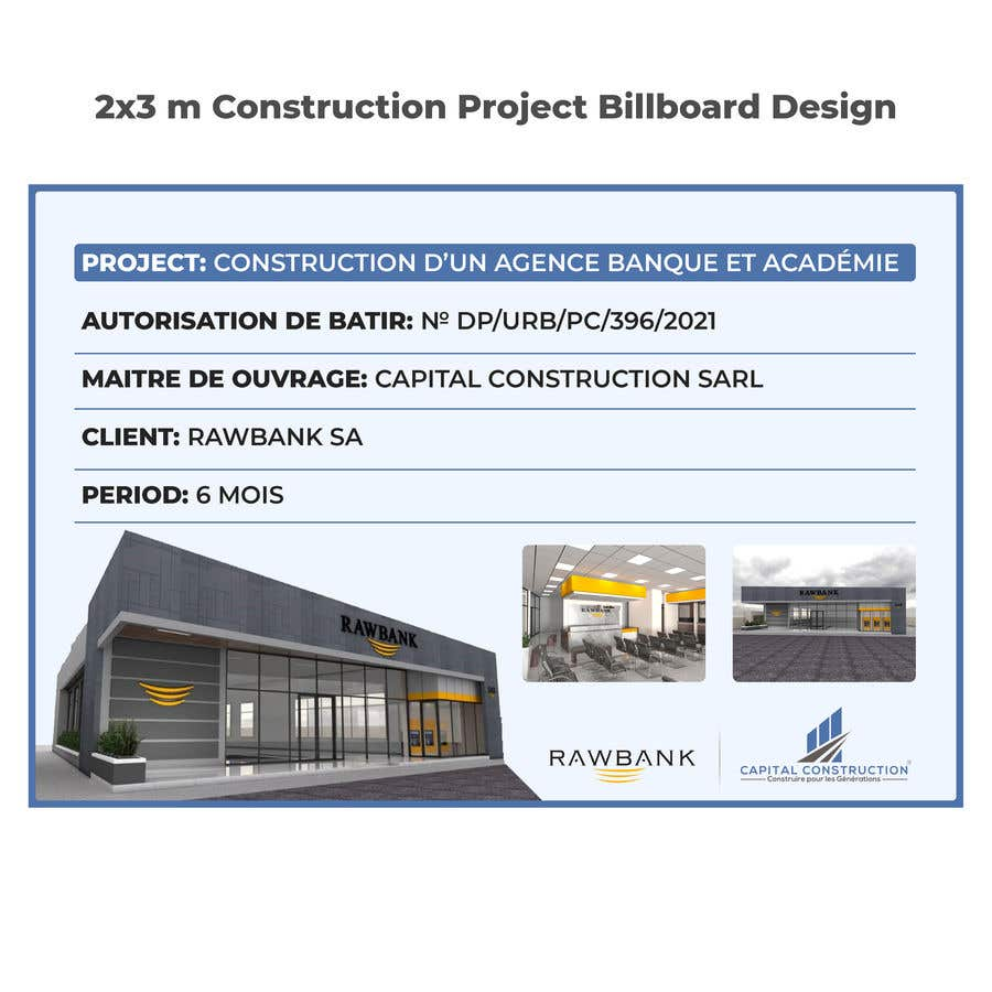 Bài tham dự cuộc thi #                                        6                                      cho                                         Design A Construction Project Billboard