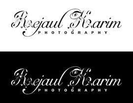 nº 284 pour Design a Calligraphy LOGO for Photographer par joynal202025