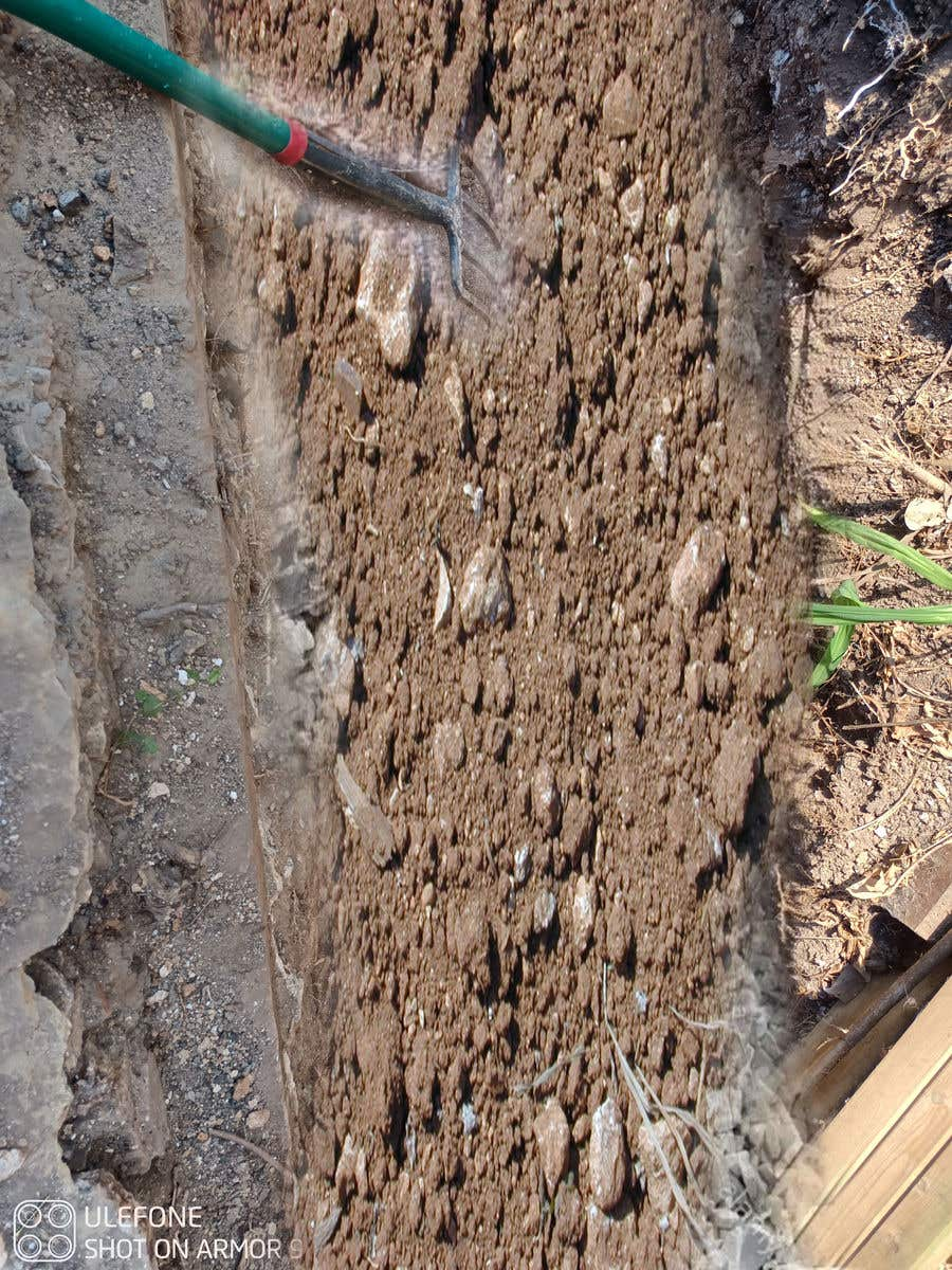 Kilpailutyö #                                        19                                      kilpailussa                                         chalk at base of dug footings
