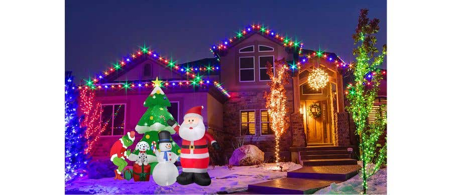 Bài tham dự cuộc thi #                                        26                                      cho                                         Blow Up Inflatable Outdoor Christmas Santa Claus and the Grinch