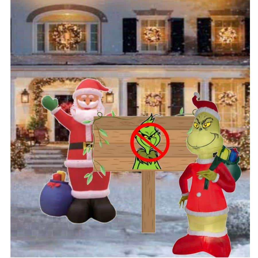 Bài tham dự cuộc thi #                                        3                                      cho                                         Blow Up Inflatable Outdoor Christmas Santa Claus and the Grinch