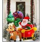 Blow Up Inflatable Outdoor Christmas Santa Claus and the Grinch için Graphic Design30 No.lu Yarışma Girdisi