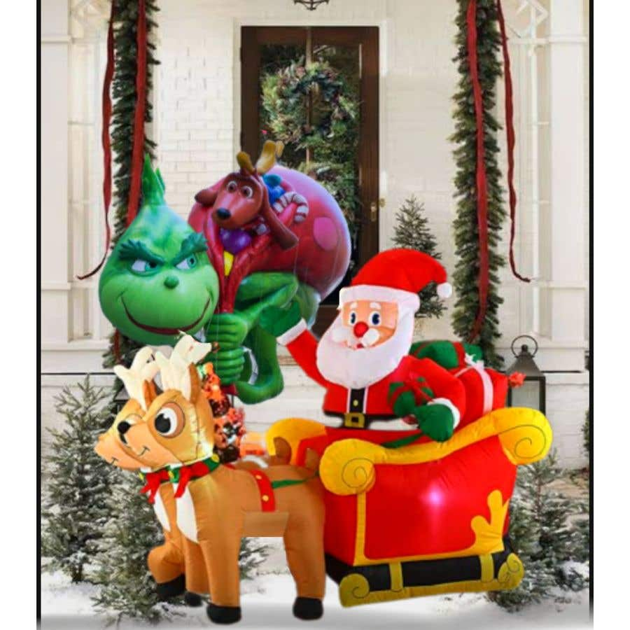 Bài tham dự cuộc thi #                                        30                                      cho                                         Blow Up Inflatable Outdoor Christmas Santa Claus and the Grinch