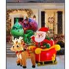 Blow Up Inflatable Outdoor Christmas Santa Claus and the Grinch için Graphic Design31 No.lu Yarışma Girdisi