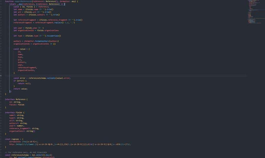 Inscrição nº                                         4                                      do Concurso para                                         Translate function to TypeScript