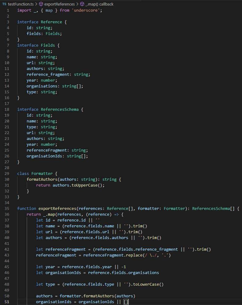 Inscrição nº                                         2                                      do Concurso para                                         Translate function to TypeScript