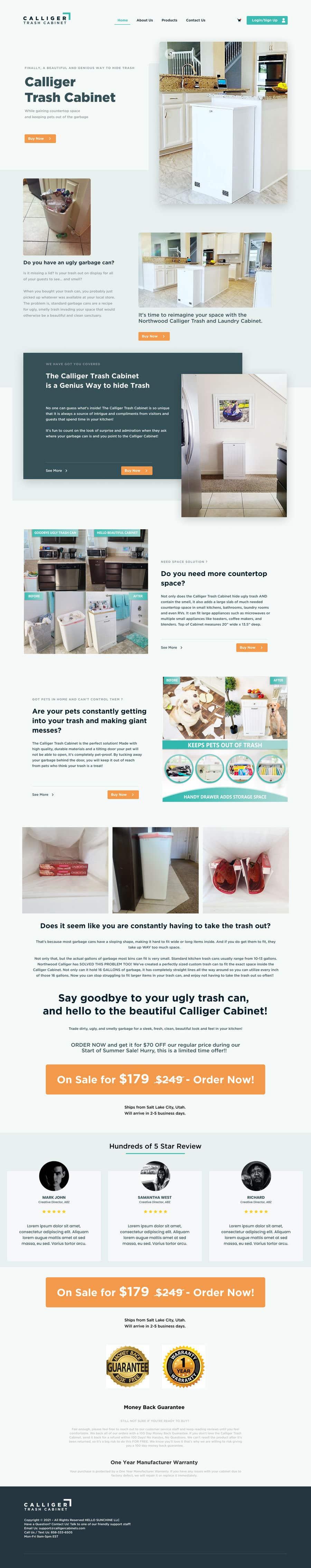 Kilpailutyö #                                        26                                      kilpailussa                                         Landing Page Design in Pagefly (Shopify)