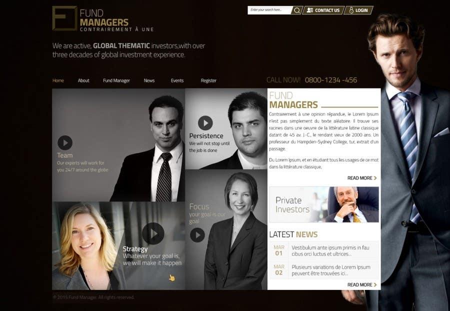 Inscrição nº 3 do Concurso para Design a Website Mockup for a finance company