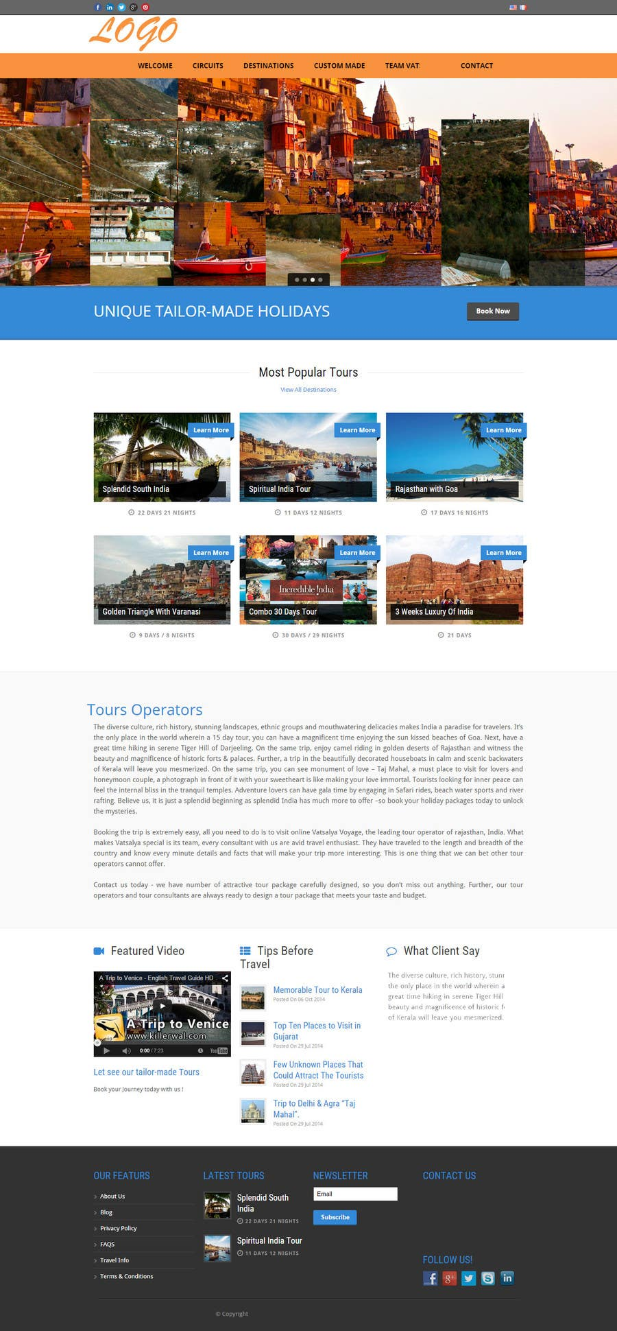 Contest Entry #1 for Design a Wordpress landing page