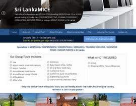 Lakshmipriyaom tarafından Design a Website Mockup for www.SriLankaMICE.com için no 4