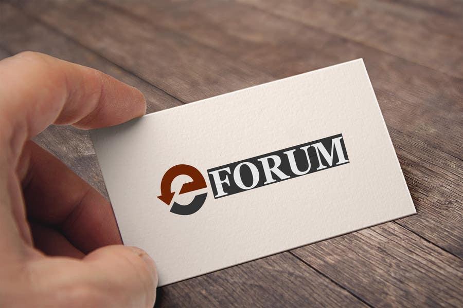 Penyertaan Peraduan #84 untuk eForum logo