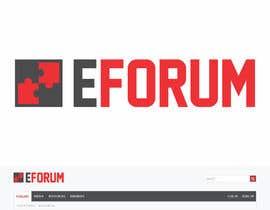 Nro 29 kilpailuun eForum logo käyttäjältä RebelliousDesign