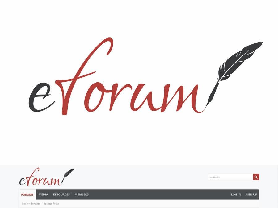 Penyertaan Peraduan #159 untuk eForum logo