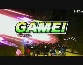 Nro 1 kilpailuun (Super Smash Bros)   Create a 40sec video ---------------- Kirby kills everyone --- käyttäjältä Kirorobin