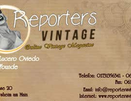 #25 untuk Design Business Cards and Advertisement for Reporters Vintage oleh radhikatrh