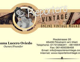 #34 untuk Design Business Cards and Advertisement for Reporters Vintage oleh jhoankhailerhia