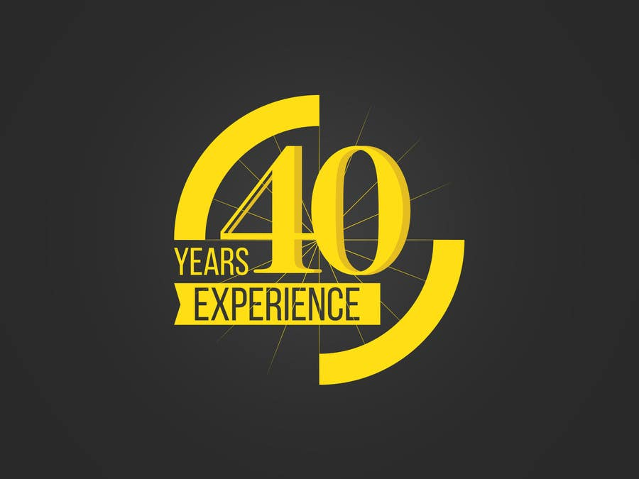 """Konkurrenceindlæg #28 for Design a Logo for """"40 Years Experience"""""""