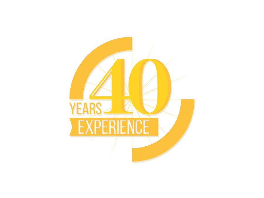 """Konkurrenceindlæg #41 for Design a Logo for """"40 Years Experience"""""""