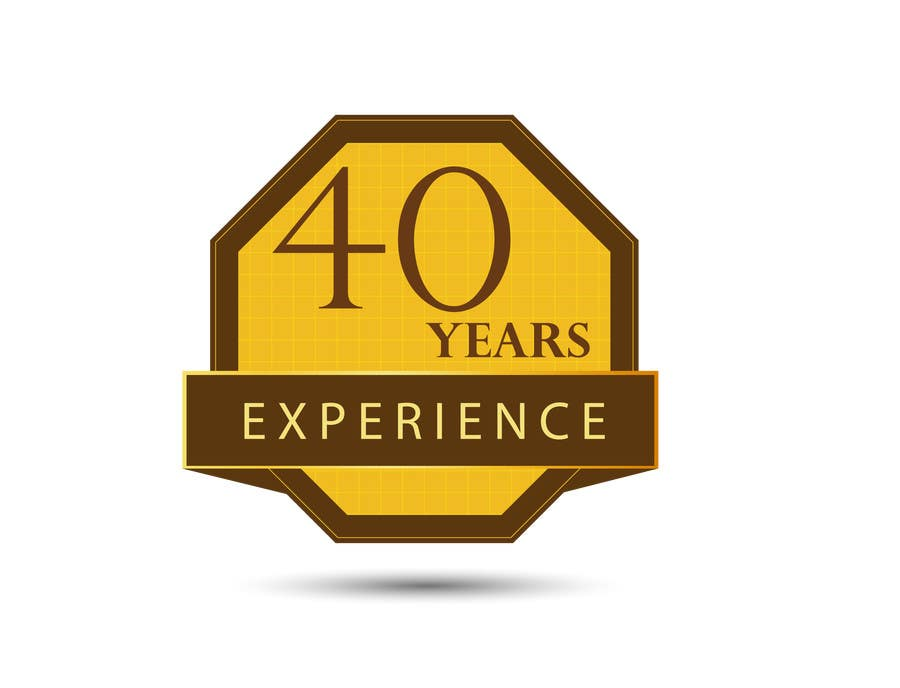 """Konkurrenceindlæg #35 for Design a Logo for """"40 Years Experience"""""""