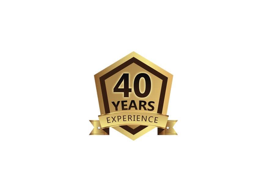 """Inscrição nº 15 do Concurso para Design a Logo for """"40 Years Experience"""""""